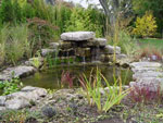 Photo of pond with waterfall